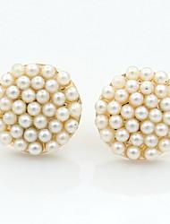 Earring Stud Earrings / Drop Earrings Jewelry Women Alloy / Cubic Zirconia / Rhinestone 1set Gold