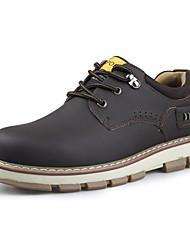 Zapatos de Hombre Oficina y Trabajo Cuero Oxfords Azul/Marrón/Amarillo/Caqui