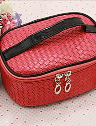 Women PU Formal / Professioanl Use Tote / Cosmetic Bag - Red