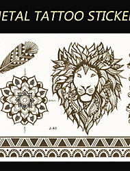 New Brand India Metallic Flash Tatoo Temporary Sticker Sexy Tattoo Body Art\Lion Vs Bracelets\Fashion Fake Tattoo