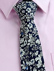 Gravatas (Amarelo/Laranja/Azul Marinho , Algodão) Estampado
