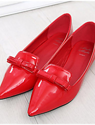 Women's Shoes  Flat Heel Pointed Toe Flats Casual Red/White