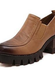 Women's Shoes Chunky Heel Heels Pumps/Heels Casual Black/Brown