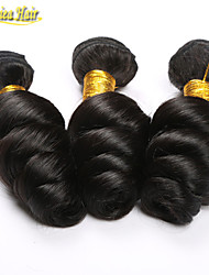 3PCS/Lot Unprocessed Brazilian Loose Wave Virgin Hair Weft 3 Bundles Human Hair Extensions Loose Curly free shipping