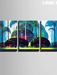 Botanique Toile Trois Panneaux Prêt à accrocher , Format Vertical