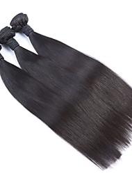 """3pcs lote 8 """"-30"""" cabelo sedoso peruano não transformados reta virgem tramas Remy preto natural feixes tecer cabelo humano"""