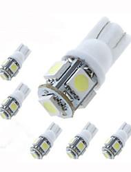 Lorcoo™ 6Pcs T10 1.5W 5x5050SMD 100-120LM 6000K Cool White Light LED Bulb