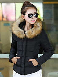 Women's Coats & Jackets , Cotton Casual/Cute Long Sleeve BLS