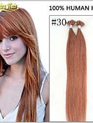 Free Custom 1pc/lot Multiple Color Straight Nail Tip U shape Hair Extension Natural Hair Real Hair