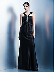 Formal Evening Dress Sheath/Column Halter Floor-length Charmeuse