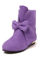 Women's Shoes Faux Flat Heel Round Toe/Closed Toe Boots Outdoor/Dress/Casual Blue/Purple/Red/Beige/Orange