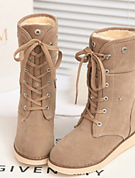 Women's Shoes Korean Flange Wedge Heel Comfort/Closed Toe Boots Outdoor/Casual
