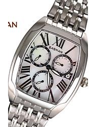 EASMAN® Watches WoMen 3 Real Sub-Dial Quartz Multifunction Tonneau Steel Natural Pearl Shells Wristwatch Women Watch Cool Watches Unique Watches