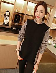 Women's Shirt Collar Shirt , Others Long Sleeve