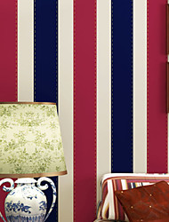novo papel de parede do arco-íris ™ estilo britânico art deco stripe papel de parede revestimento de parede, art deco papel não-tecido
