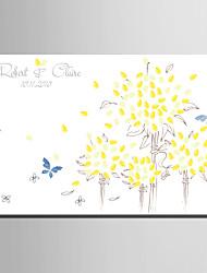 Thème de jardin - Cadres & Plateaux de signatures ( Blanc )