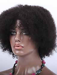 7A Afro Kinky Curl Virgin Brazilian Machine Made Wigs Glueless None Lace Short Wigs For Black Women
