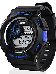 Men's LCD Digital Sport Watch 5 Colors Backlight Stopwatch Cool Watch Unique Watch
