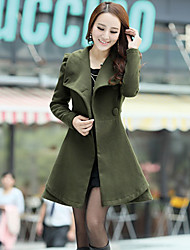 Women's Long Sleeve Others Trench Coat , Casual