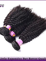 """4pcs / lot 10 """"-28"""" crépus bouclés cheveux 100% malaisiens extensions de cheveux vierges naturel noir humaine regroupe les produits"""