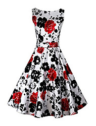 VOIN  Women's Dresses , Cotton Vintage/Print/Party VOIN