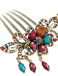 Vintage Style Butterfly Shape Alloy Hair Comb(Five Colors)(1Pc)