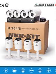 cotier® NVR 8 canaux du système HDMI 1U NVR 720p / 960p / 1080p / plug and play / IR / ip caméra n8b3m / kit