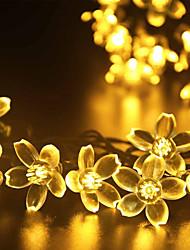 gmy свет рождества форма цветка 50led солнечный свет теплый белый / холодный белый / цветной смешать