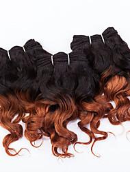 "evet dois tons weave brasileiro do cabelo cabelo humano virgem pacotes ombre brasileira extensons trama cabelo 3pcs 8 ""105g / lot"