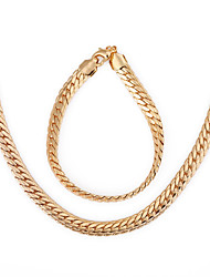 Westernrain Fashion Style Exaggerated Chain Statement Necklaces Jewelry 18K Gold Plated Chunky Necklace Bracelet Chains