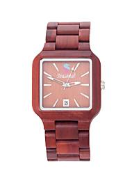moda relojes de madera del nuevo diseño de temporada alta calidad de línea cuadrada reloj de pulsera de cuarzo para los hombres