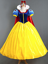 Snow Princess Adult Female Halloween Cosplay Costumes Yellow/Blue Movie Cosplay