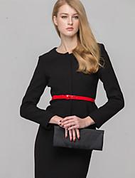 Women's Long Sleeve Blazer , Polyester/Cotton Blends Short Casual/Work