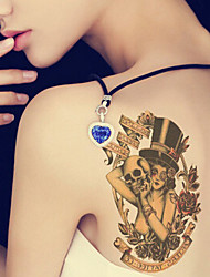 2015 Latest Version High Quality Creative Fashion Waterproof One-Time Tattoo Stickers ——The Skeleton Monocular Beauty