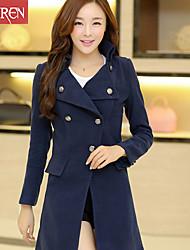 Muairen®Women'S Slim Double-Breasted Wool Coat Jacket