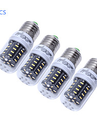 3W E14 / E26/E27 LED a pannocchia T 36 SMD 4014 300 lm Bianco caldo / Luce fredda Decorativo AC 220-240 / AC 110-130 V 4 pezzi