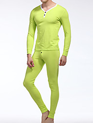Men's Cotton Long Johns Top