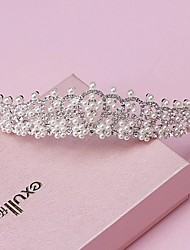 Mujer Perla Diamantes Sintéticos Aleación Celada-Boda Ocasión especial Tiaras 1 Pieza