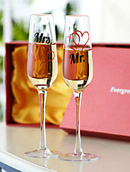 Mr. Mrs. champagne glass (Set of 2)