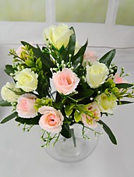Sweet Heart 7 heads Silk Rose Bouquet 2 Bundles/Lot for Hotel and Store Decoration