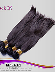 "4Pcs/Lot 8""-28"" Unprocessed Brazilian Virgin Hair Natural Black Straight Human Hair Weave  Tangle Free Hair Extensions"