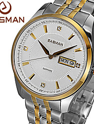 EASMAn Brand Mens Wristwatch Gold 2015 Designer Business Sapphire Luxury Solid Strap Clock Men Wristwatch Quartz Watch