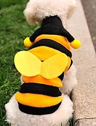 Gatos Cães Fantasias Camisola com Capuz Amarelo Roupas para Cães Inverno Primavera/Outono Animal Fofo Fantasias