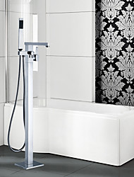 Bathtub Faucet - Contemporary - Floor Standing - Brass (Chrome)