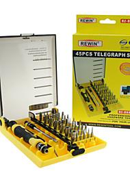 REWIN® TOOL  45Pcs Professional Electric Screwdriver Set