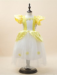 Ball Gown Floor-length Flower Girl Dress - Satin/Stretch Satin Short Sleeve