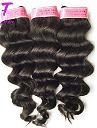 3pcs Lot 100% Brazilian Virgin Hair Deep Wave Human Hair Extensions Natural Black Hair Weaves