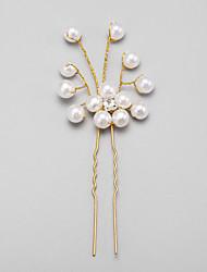 Women's Flower Girl's Rhinestone Alloy Imitation Pearl Headpiece-Wedding Special Occasion Hair Pin 1 Piece