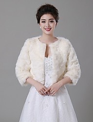 Wedding  Wraps / Fur Wraps / Fur Coats Coats/Jackets Faux Fur Beige