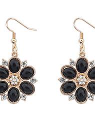 Rayuan Women's High Quality Fashion Beautiful Flower Alloy Earrings